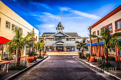 Balboa Main Street In Newport Beach Picture Poster by Paul Velgos