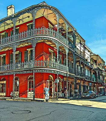 Balconies Painted Poster by Steve Harrington