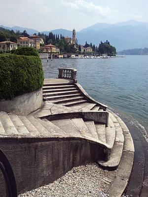 Balcony On The Lake Poster by  Roberto Arcari Farinetti