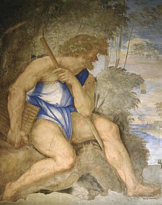 Baldassare Peruzzi 1481-1536. Italian Architect And Painter. Villa Farnesina. Polyphemus. Rome Poster by Baldassarre Peruzzi
