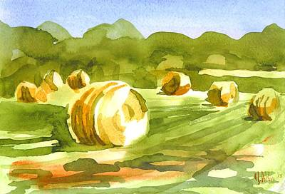Bales In The Morning Sun Poster by Kip DeVore