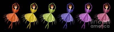Ballerina Rainbow 1 Poster by Andee Design