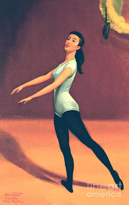 Ballet Practice Poster by Art By Tolpo Collection