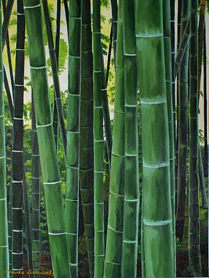 Bamboo Poster by Chikako Hashimoto Lichnowsky