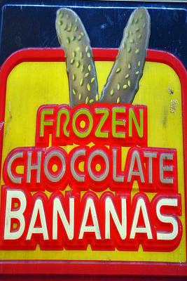 Bananas Poster by Skip Willits
