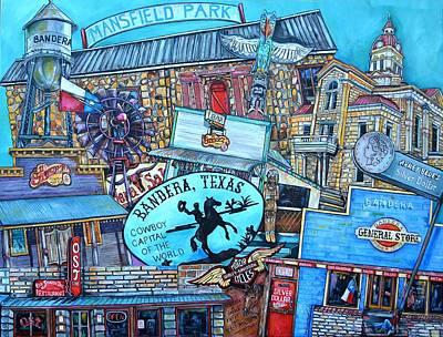 Bandera Horses And Harleys Poster by Patti Schermerhorn