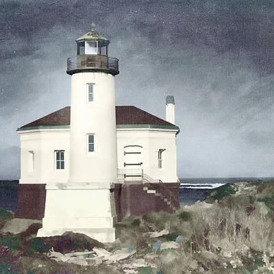 Bandon Lighthouse Poster by Carol Leigh