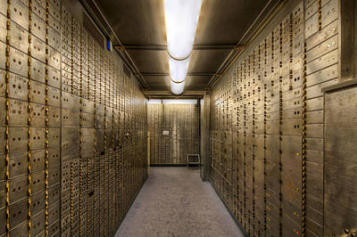 Bank Safe Deposit Boxes Poster by David Gn