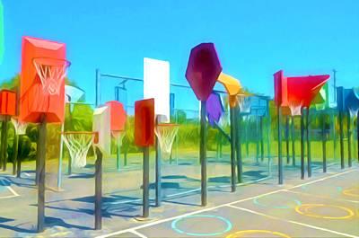 Bankshot Basketball 1 Poster by Lanjee Chee