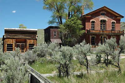 Bannack Montana's Hotel Meade Poster by Bruce Gourley