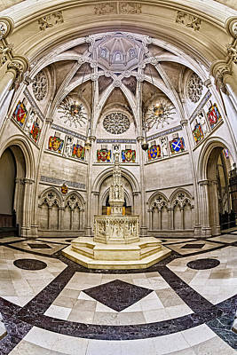 Baptistry At Saint John The Divine Cathedral Poster by Susan Candelario