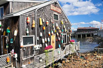 Bar Harbor Restaurant Poster by Betty LaRue
