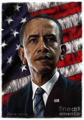 Barack Obama Poster by Andre Koekemoer
