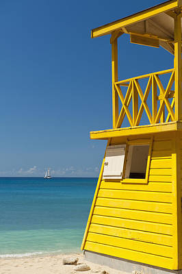 Barbados, Oistins, Lifeguards Tower Poster by Ian Cumming