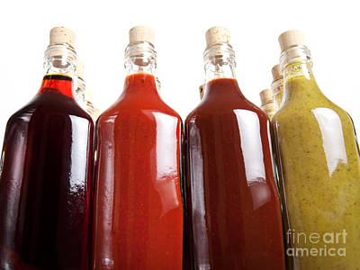 Barbecue Hot Sauces Poster by Sinisa Botas