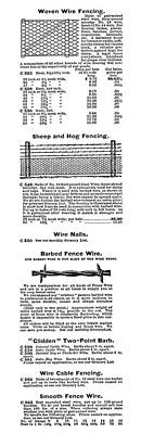 Barbed Wire Advertisement Poster by Granger