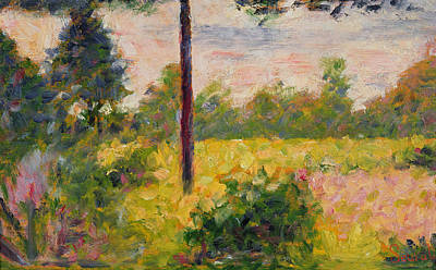 Barbizon Forest Poster by Georges Pierre Seurat