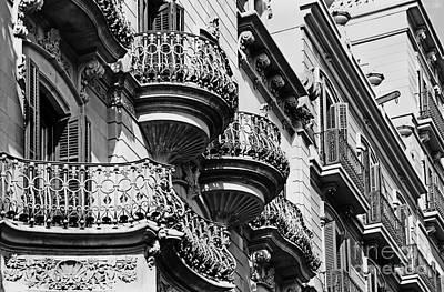 Barcelona Balconies Poster by Meleah Fotografie