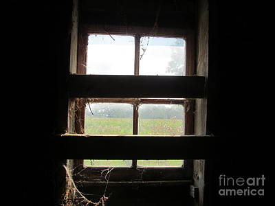 Barn South Lower Window Poster by Tina M Wenger