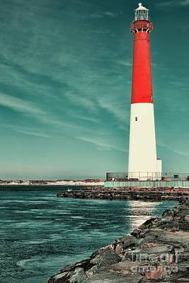 Barnegat Inlet Lighthouse 2 Poster by Paul Ward