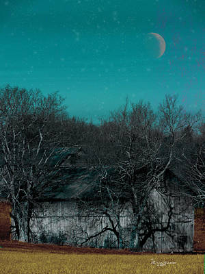 Barns-featured In Visions Of The Night Group Poster by EricaMaxine  Price