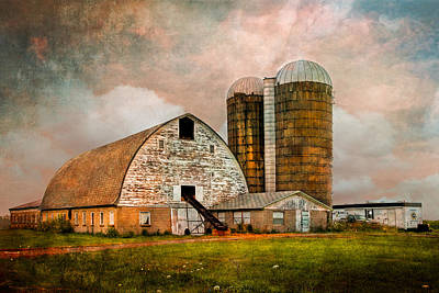 Barns In The Country Poster by Debra and Dave Vanderlaan