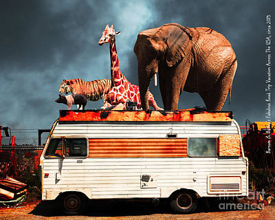 Barnum And Baileys Fabulous Road Trip Vacation Across The Usa Circa 2013 5d22705 With Text Poster by Wingsdomain Art and Photography