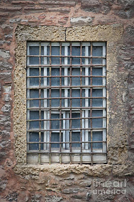 Barred Window Poster by Antony McAulay