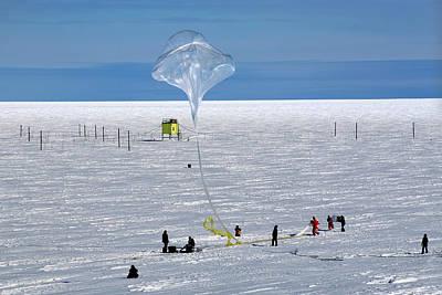 Barrel Research Balloon Release Poster by Nasa/gsfc/barrel