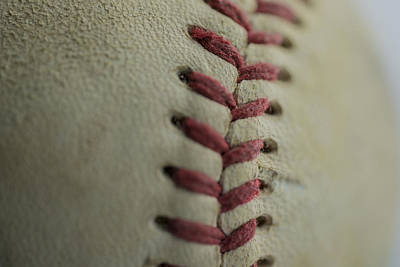 Baseball Macro Poster by David Haskett