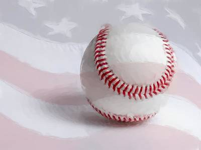 Baseball - Painterly Poster by Heidi Smith
