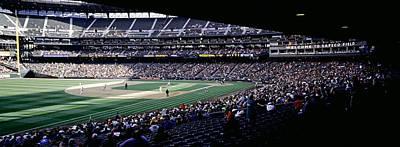 Baseball Players Playing Baseball Poster by Panoramic Images