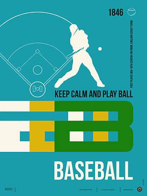 Baseball Poster Poster by Naxart Studio