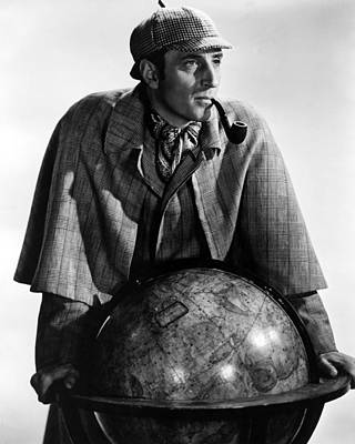 Basil Rathbone In Sherlock Holmes And The Secret Weapon  Poster by Silver Screen