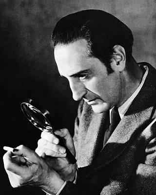 Basil Rathbone In Sherlock Holmes And The Voice Of Terror  Poster by Silver Screen