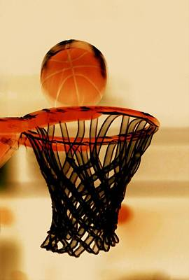 Basketball Hoop And Basketball Ball 1 Poster by Lanjee Chee