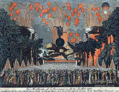 Bastille Day 1801 Poster by Photo Researchers
