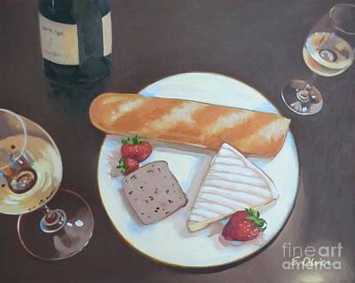 Bastille Day Happy Hour Poster by Elisabeth Olver