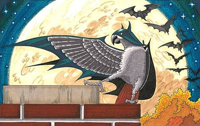 Bat Bird Poster by Drisdan