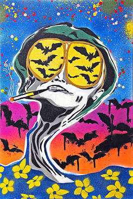 Bat Country Poster by Victor Cavalera