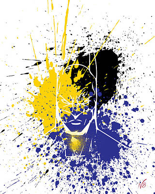 Batman Goes Splat Poster by Decorative Arts