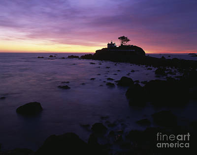 Battery Point Lighthouse At Sunset Poster by Jim Corwin