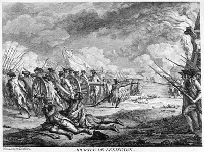 Battle Of Lexington, 1776 Poster by Granger
