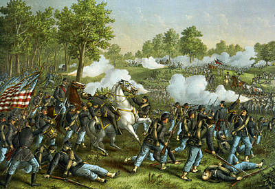 Battle Of Wilson Creek Poster by Kurz and Allison