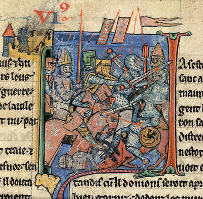 Battle Scene Outside Antioch Poster by British Library
