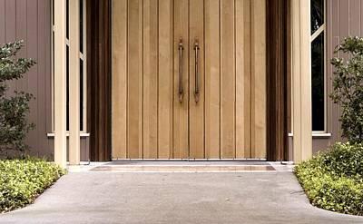 Baughman Center Front Door Poster by William Ragan