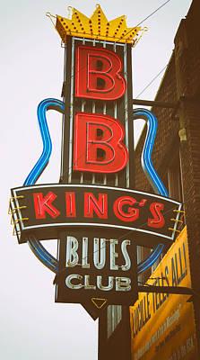 Bb King's Blues Club Poster by Mary Lee Dereske
