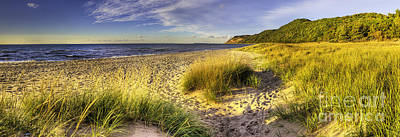 Beach At Esch Road Poster by Twenty Two North Photography