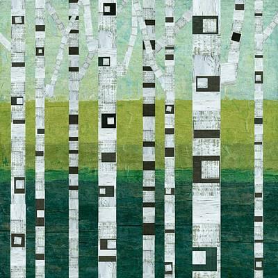 Beach Birches Poster by Michelle Calkins