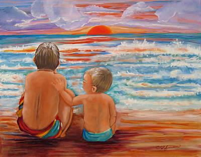 Beach Buddies II Poster by Carol Allen Anfinsen